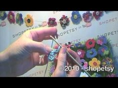 5-Petal Crochet Flower Button Tutorial