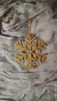 Купить снежинка №3 - бежевый, елочные игрушки, елочные украшения, елочная игрушка, елочное украшение