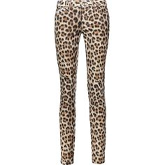 Just Cavalli - Leopard-print Stretch Cotton-blend Skinny Jeans ($142) ❤ liked on Polyvore featuring jeans, leopard print, leopard jeans, leopard print skinny jeans, patterned jeans, denim skinny jeans and 5 pocket jeans