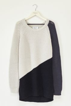 Triangle Long Sweater - Jet Combo | Emerson Fry