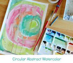 Grow Creative: Circular Abstract Watercolor Painting Tutorial