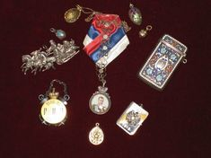 FABERGE JEWELRY -- All remarkable belongings of Dowager Marie Feodorovna - she wore them until the end of her life.