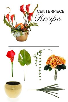 Make this diy wedding centerpiece with faux tropical flowers and greenery from afloral.com. #afloral