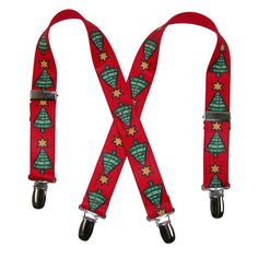 These Christmas tree suspenders are an adorable way to dress your child up for the holidays. They easily clip to their pants and adjust to their size for a comfortable wear.