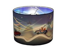 Night Riders Wonderlamp - Oh boy! Look at Bear, Fox and Deer in their race cars!  At full speed they race over the road and are having real fun! This Night Riders wonderlamp is a real spectacle once the light goes on.