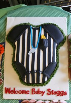 Referee cake for a baby shower