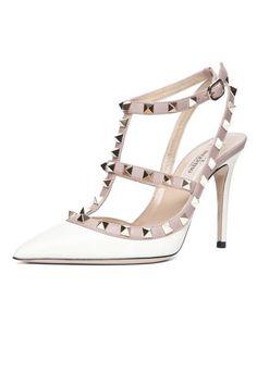 White hot! Valentino Rockstud Slingback Heels
