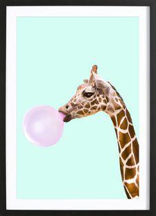 Giraffe - Paul Fuentes - Gerahmtes Poster