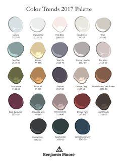 Benjamin Moore 2017 Color Trends. Home decor
