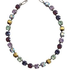 """Mariana Silver Plated Classic Shapes Swarovski Crystal Necklace, 17.5"""" Iris 3252 1327. Available at www.regencies.com"""