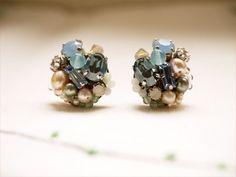 ビジューピアス(Blue sax)0236 | iichi(いいち)| ハンドメイド・クラフト・手仕事品の販売・購入