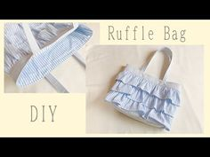 Ruffles Bag, Leather Bag, Diy And Crafts, Tote Bag, Sewing, Pouches, Bags, Fashion, Scrappy Quilts