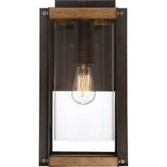 Black Outdoor Lights, Outdoor Lighting, Clear Glass, Glass Art, Outdoor Sconces, Glass Design, Walnut Wood, Rustic Style, Steel Frame