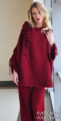 Crochet Cardigan, Knit Crochet, Knit Cardigan Pattern, Knitted Cape, Winter Coats Women, Knit Fashion, Girls Sweaters, Knitting Designs, Pull