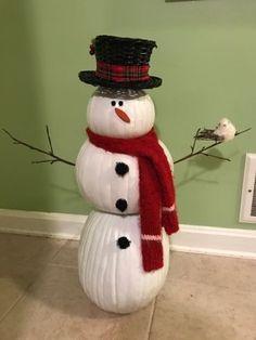 PUMPKIN Snowman, DIY Snowman
