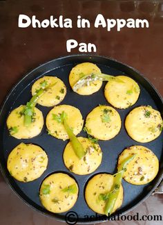 Appe Dhokla is a quick and easy dhokla recipe made in appam pan in hindi & english with step to step directions with photos & recipe video,tips & variations Indian Veg Recipes, Indian Snacks, Vegetarian Recipes, Cooking Recipes, Paneer Pakora Recipes, Khaman Dhokla, Dhokla Recipe, Instant Recipes, Desi Food