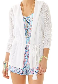 Lilly Pulitzer Theresa Wrap Cardigan in Resort White