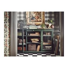 IKEA - LIATORP, Sideboard, dark olive-green, A cord outlet in the back makes it easy to gather all cords in one place. Liatorp, Ikea Living Room, Living Room Storage, Dining Room, Buffet Ikea, Vert Olive, Olive Green, White Sideboard, Design Your Kitchen