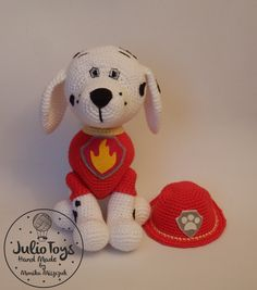 Dalmatian like Marshall from the Paw Patrol https://www.etsy.com/listing/265685015/dalmatian-like-marshall-from-the-paw?ref=shop_home_active_1
