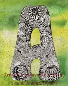 ACEO+Complete+A+to+Z+Zentangle+Zendoodle+Doodle+by+IrelandBrady,+$16.00