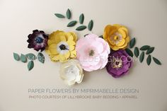 MiPrimabelle Design paper flowers is on Etsy and Facebook. Follow us in Instagram, too! miprimabelledesign.com