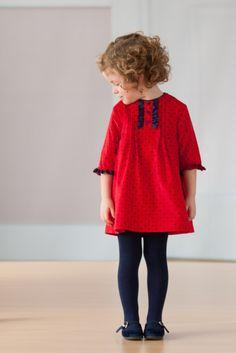 Absolut süßes Mädchenkleid mit Punkten Tutto Piccolo_Winter_2014 Kid´s Fashion, Kinderbekleidung
