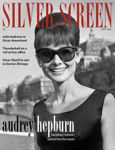 Audrey Hepburn on the cover of Silver Screen May 1965