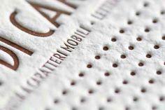 Esempio di cartoncino stampato per Letterpress, by Carta a mano nelle Ande, 100% cotone