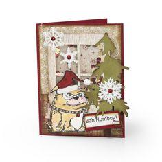 http www sizzix com 16819 bah humbug card Crazy Bird, Crazy Dog, Crazy Cats, Crazy Animals, Create Christmas Cards, Xmas Cards, Christmas Ideas, Holiday Cards, Greeting Cards