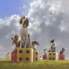 On all fours - Jimmy Lawlor Jimmy Lawlor, Art Through The Ages, Dog Heaven, Magic Art, Dog Paintings, Pastel Art, Fantastic Art, Surreal Art, Community Art