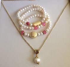 Hermoso set en perlas de agua dulce
