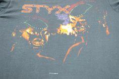 Vintage 1982 Styx Kilroy Was Here Tour Black T Shirt Adult M