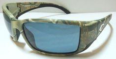 Costa del Mar Sunglasses (Men's Pre-owned Blackfin 580P Realtree AP Camo Polarized Gray Lense Sun Glasses)