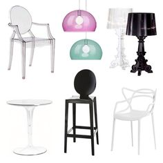Glossy Kartell furniture