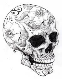 semi realistic sugar skull...