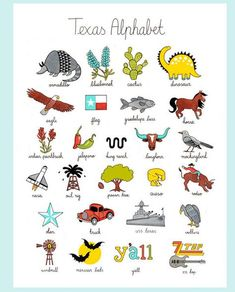 The Lone Star Alphabet Print by Kimkaiserart on Etsy Texas Tattoos, Texas Quotes, Quotes Quotes, Uss Texas, Texas Bbq, Texas Humor, Only In Texas, Texas Forever, Loving Texas
