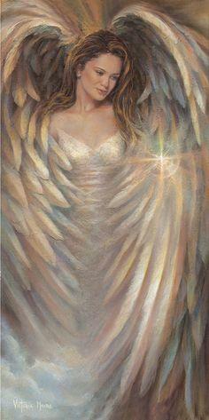 Luz y Oscuridad en mi...Bellísima Ángel femenina de Victoria Moore