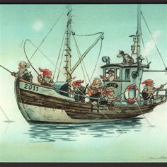 Solve Midthun Nisser 221 jigsaw puzzle online with 130 pieces Vintage Cards, Vintage Postcards, Fishing Gnome, Design Steampunk, Norwegian Christmas, Nordic Art, Believe In Magic, Norse Mythology, Fantasy