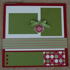 scrapbooking page layout -could use this as a general layout, just by chaning the colors and embelishment