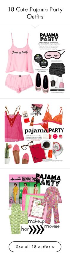 """18 Cute Pajama Party Outfits"" by polyvore-editorial ❤ liked on Polyvore"