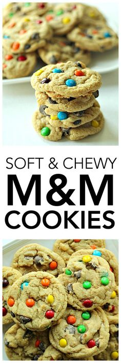 Soft & Chewy M & M Cookies from SixSistersStuff.com | Best Cookie Recipe | Homemade Cookies | Kid Approved Dessert