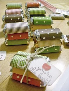 Memory*Preserves: Action Shot - World Card Making Day Party Favors Christmas Favors, Christmas Fun, Xmas, Craft Show Ideas, Appreciation Gifts, Craft Fairs, Little Gifts, Small Gifts, Homemade Gifts