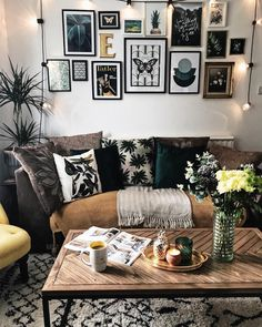 living room furniture picture gallery cream 6224 best trends images in 2019 family nature inspired green and yellows the with an eclectic mix of art on wall