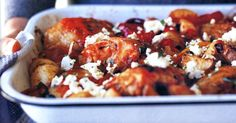 A cheap and easy way to jazz up chicken! Greek Recipes, Meat Recipes, Chicken Recipes, Dinner Recipes, Cooking Recipes, Savoury Recipes, Greek Style Chicken, How To Cook Potatoes, Recipes From Heaven