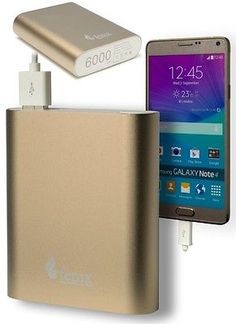 6000mAh Portable Charger External Battery Power Bank for iPhone, Samsung, LG
