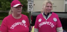 Oh, no they didn't ... Trumpettes: 'We finally have a God that's gonna come down and help us all' - Oct 3, 2016 -  In this 43-second video clip, two Trump supporters talk to an NBC reporter, and well, the ignorance and sexism and lookism by these two women is mind-boggling. Here is the short conversation in full followed by the audio/video. It's presumed at the...