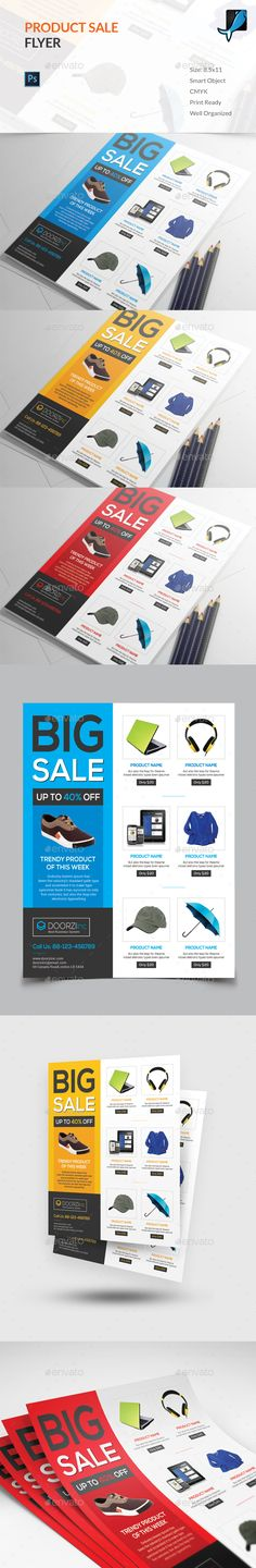 Product Sale Flyer Template PSD. Download here: http://graphicriver.net/item/product-sale-flyer/16083333?ref=ksioks