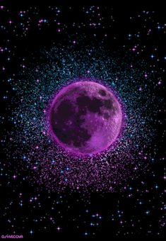 "geyashvecova: ""Art G. Planets Wallpaper, Live Wallpaper Iphone, Galaxy Wallpaper, Wallpaper Backgrounds, Cheetah Print Wallpaper, Purple Wallpaper, Dream Pictures, Moon Pictures, Mystic Moon"