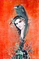 Fiatal lány madaras fejdísszel by Endre Szasz Lany, Hungary, Painting, Artists, Image, Pintura, Painting Art, Paintings, Painted Canvas
