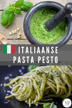 Learn how to cook like a real Italian. With this recipe you will make your own easy and delicious pesto. Feta Pasta, How To Make Pesto, Tapenade, Italian Pasta, Learn To Cook, Guacamole, Italian Recipes, Tapas, Chutney